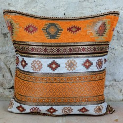 Coussin oriental Bythinia orange