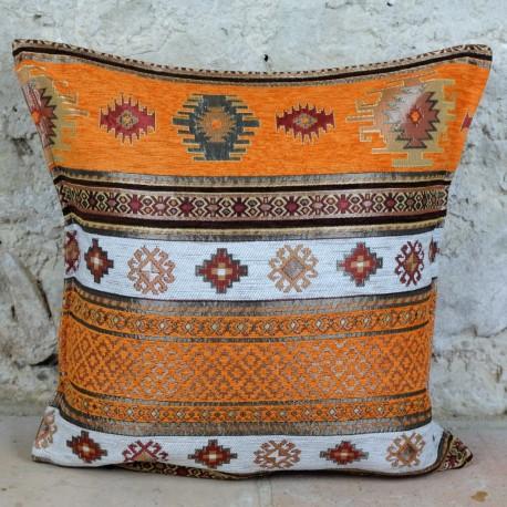 Coussin orange oriental Bythinia