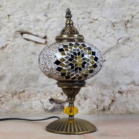 Lampe déco ethnique marron Idia par KaravaneSerail