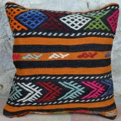 Coussin kilim coloré Kolon D014