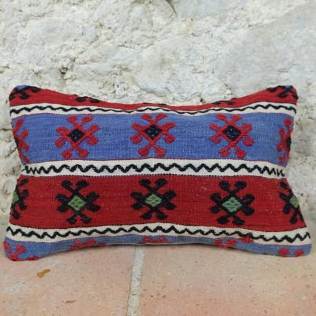Housse de coussin fait main Lumbar E019, décoration ethnique