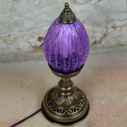 Lampe de chevet bohème lilas Okoba