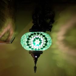 Applique en mosaïque verte Alima