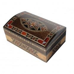 Boîte à bijoux en bois Isis brune