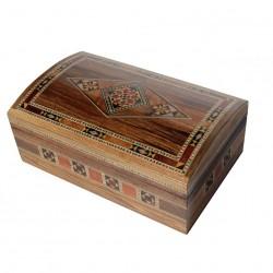 Boîte à bijoux orientale en bois et marqueterie artisanale Anqet