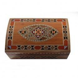 Boîte à bijoux en bois et marqueterie Isis claire