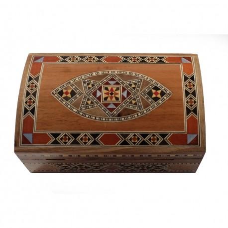 Boîte artisanale en bois et marqueterie Isis claire style oriental