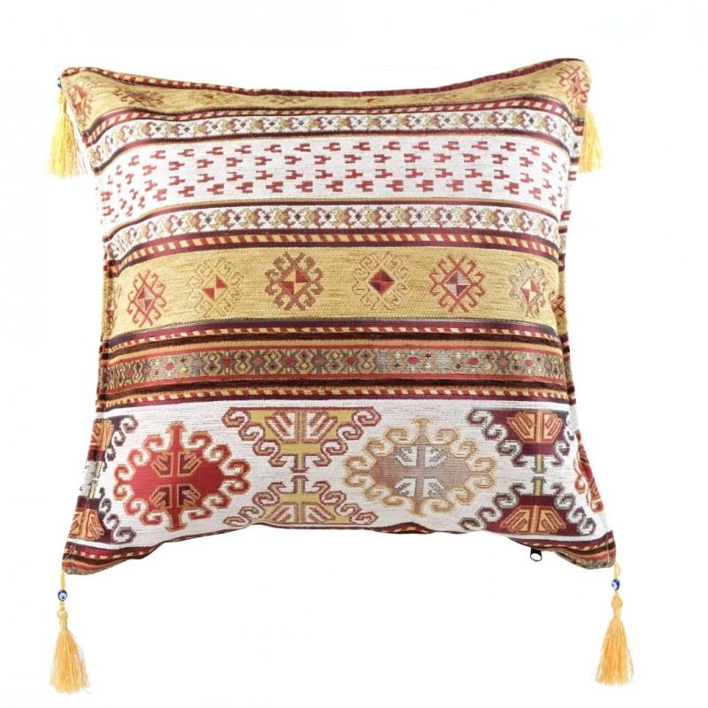 coussin oriental kapadokia ivoire et jaune. Black Bedroom Furniture Sets. Home Design Ideas