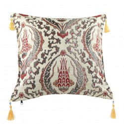 Coussin oriental cosy Galatia ivoire