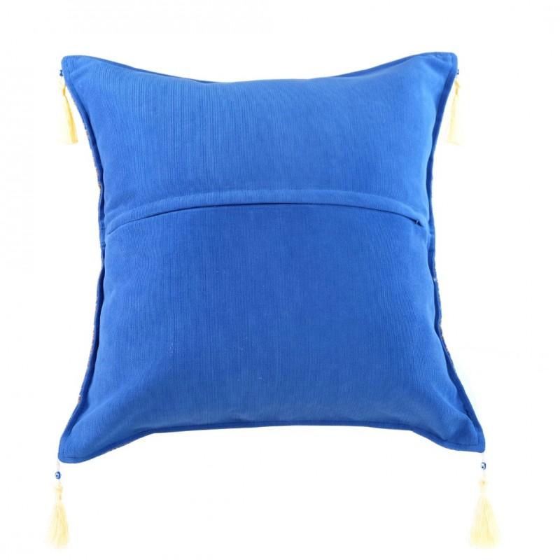 coussin exotique bleu lycia. Black Bedroom Furniture Sets. Home Design Ideas