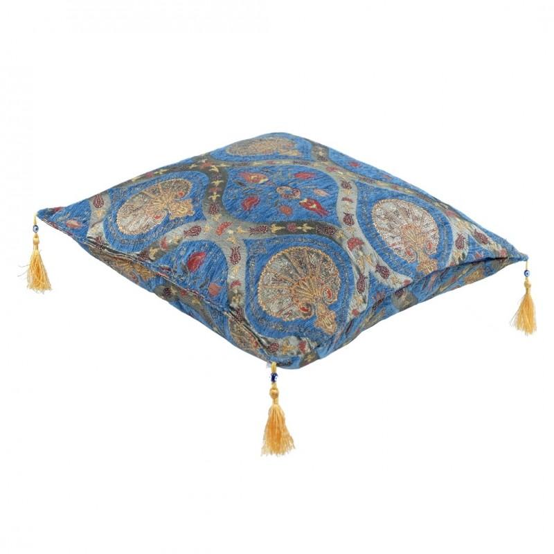 ... Coussin Chambre Oriental Bleu Cilicia, Déco Fleurie