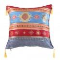 Coussin turc oriental Bythinia bleu et rouge