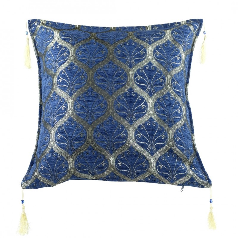 coussin bleu original mysia. Black Bedroom Furniture Sets. Home Design Ideas