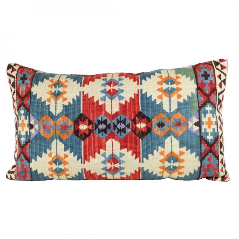Housse de coussin orientale en kilim anashi avec motifs for Housse de coussin ethnique