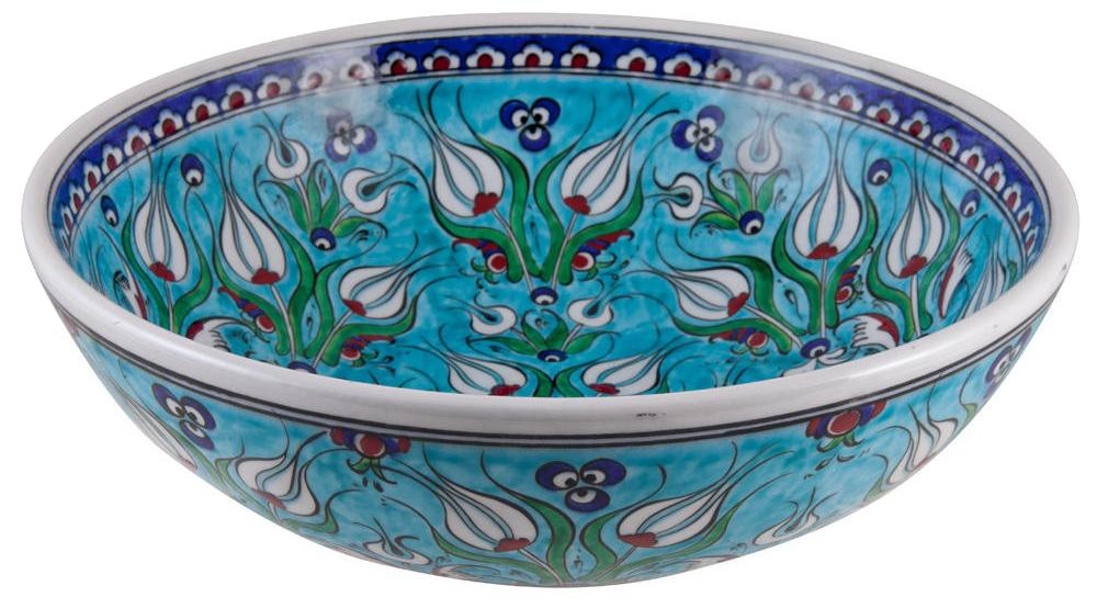 Bol Derya turquoise, en céramique d'Iznik ottomane turque par KaravaneSerail