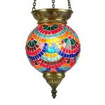 Lampe en mosaïque orientale Lamassu par KaravaneSerail