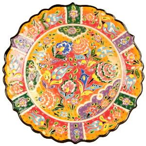 Assiette ethnique colorée par KaravaneSerail