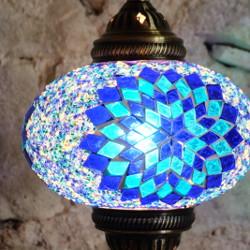 Lampe turque bleue Idia par KaravaneSerail