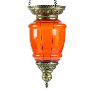 Décoration orientale orange, suspension Ninsun par KaravaneSerail
