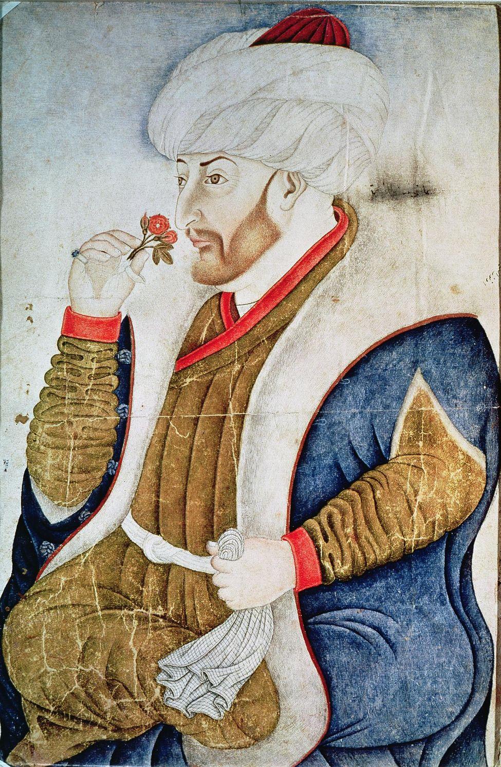 Le sultan Mehmet II et les fleurs