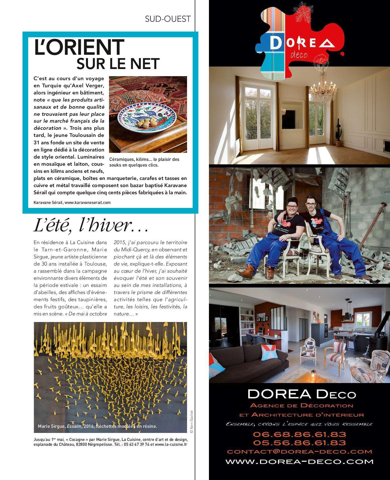 KaravaneSerail dans le magazine Art & Décoration