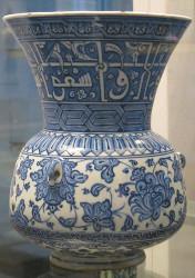 Vase en céramique d'Iznik style Baba Nakkash