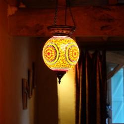 Cadeau de Noël et lampe mosaïque