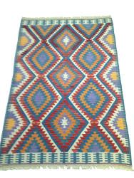 Tapis kilim turc géométrique par KaravaneSerail