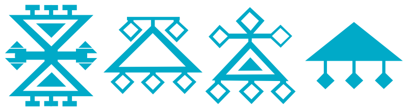 Symboles et motifs des kilims - Ruban à Cheveux