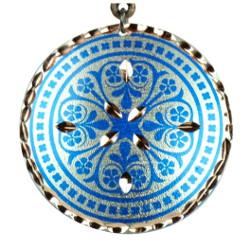 Pendentif en cuivre artisanal Nafis bleu par KaravaneSerail