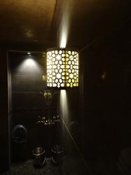 Applique oriental en laiton Konya dans le spa de l'hotel restaurant Ti al Lannec - KaravaneSerail