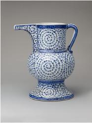 Cruche en céramique d'Iznik style Tugrakes spiralé