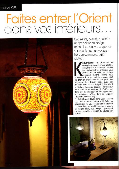 La lampe orientale en mosaïque turque Ishkur par KaravaneSerail dans l'Univers de la Maison