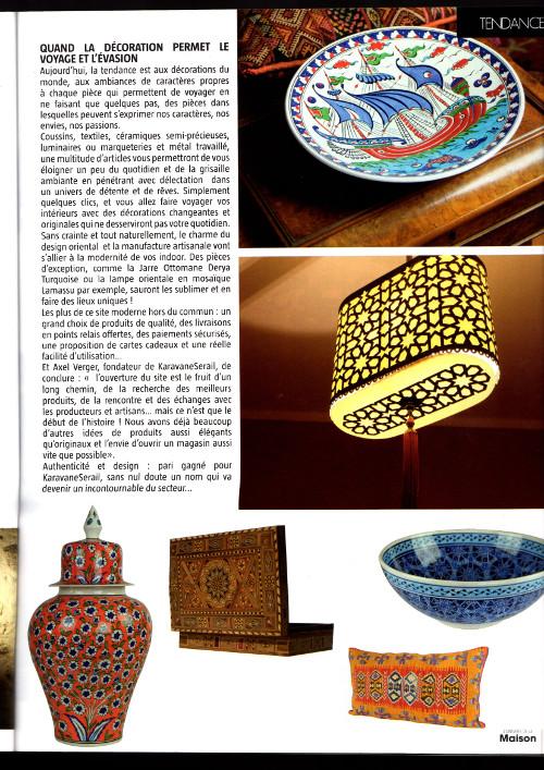 Le plat en céramique d'Inzik Kalyon par KaravaneSerail dans l'Univers de la Maison